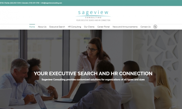 After picture of the Sageview Consulting Website