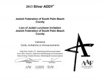 2013 Addy Award - Lion of Judah