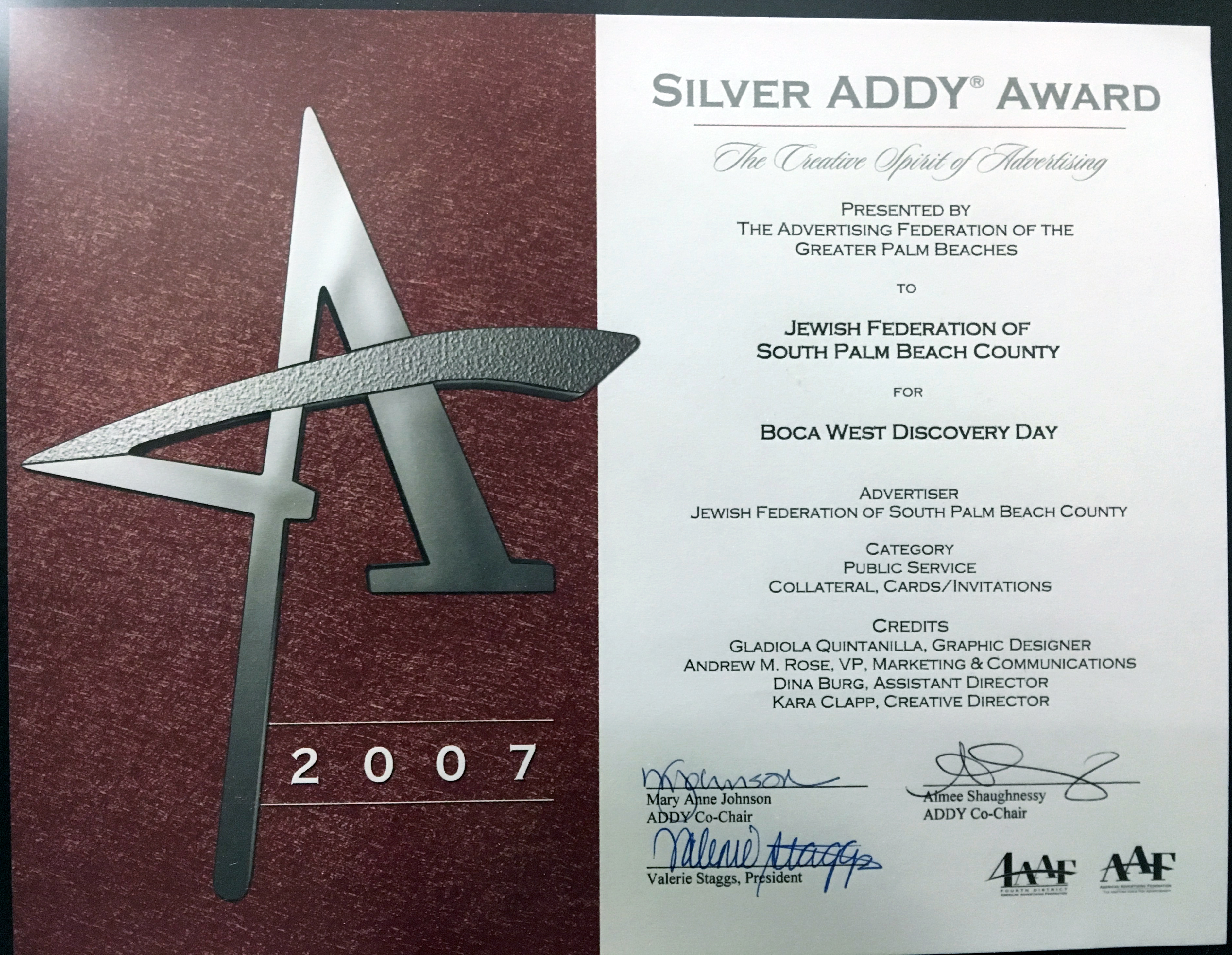 Addy Award 4