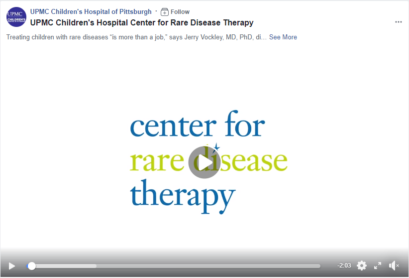 UPMC Children's Hospital Center for Rare Disease Therapy Interview with Dr. Jerry Vockley
