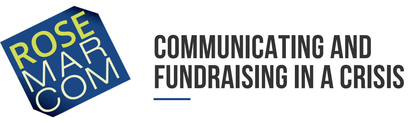 Nonprofit communicating and fundraising in a crisis